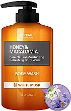 "Parfumuri și produse cosmetice Gel de duș ""Musk alb"" - Kundal Honey & Macadamia Body Wash White Musk"