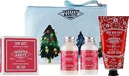 Parfumuri și produse cosmetice Set - Institut Karite Fleur de Cerisier (sh/gel/50ml + b/milk/50ml + h/cr/75ml + soap/100g + bag)