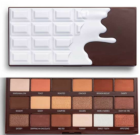 Paletă farduri de ochi - I Heart Revolution Chocolate Eyeshadow Palette Chocolate Smores