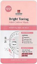 Parfumuri și produse cosmetice Mască iluminatoare pentru față - Leaders Ex Solution Bright Toning Mild Cotton Mask