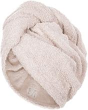Parfumuri și produse cosmetice Prosop turban pentru uscarea părului, bej - MakeUp