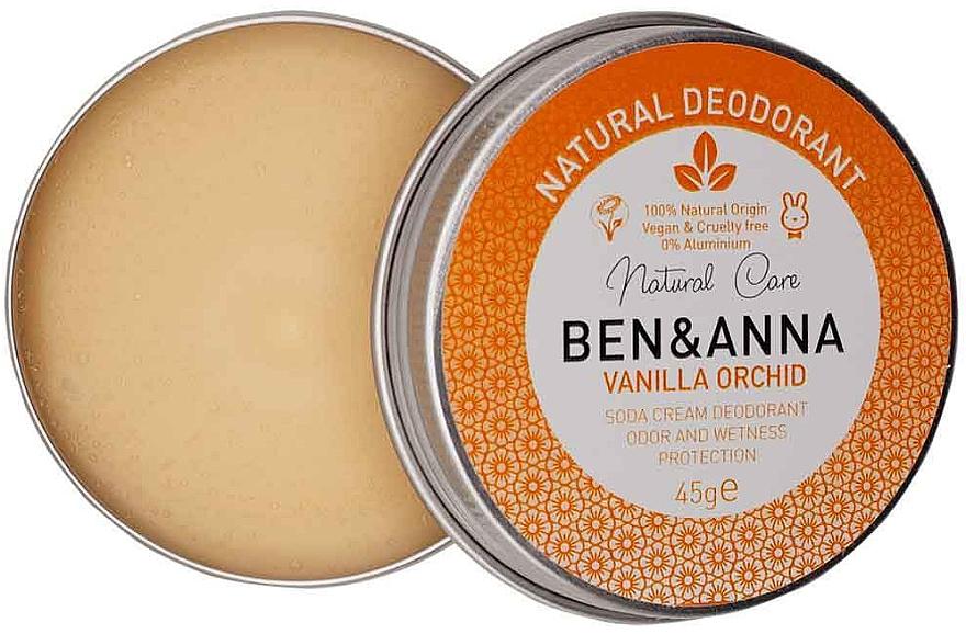 Deodorant cremos - Ben & Anna Vanilla Orchid Soda Cream Deodorant