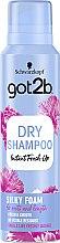 "Parfumuri și produse cosmetice Șampon uscat ""Volum mătăsos"" - Schwarzkopf Got2b Fresh it Up! Dry Shampoo Silky Foam"