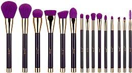 Parfumuri și produse cosmetice Set pensule pentru machiaj, T114, 15buc - Jessup