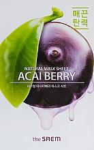 Parfumuri și produse cosmetice Mască din țesătură cu extract de fructe de Acai pentru față - The Saem Natural Acai Berry Mask Sheet