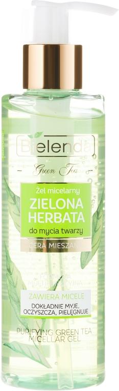 Gel micelar pentru curățare - Bielenda Green Tea Cleansing Micellar Wash Gel — Imagine N1