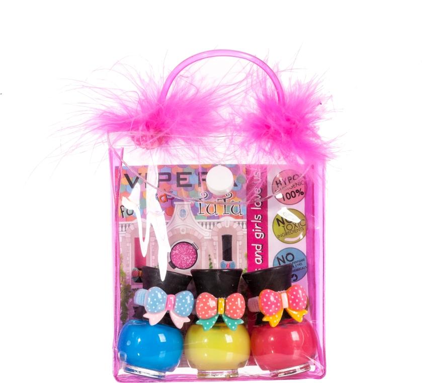 Set trusă cosmetică, pompoane - Tutu Peel-Off (n/polish/5mlx3 + bag) (11) — Imagine N1