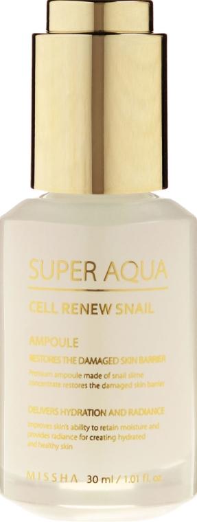 Ser regenerant cu extract de melc - Missha Super Aqua Cell Renew Snail Ampoule — Imagine N2