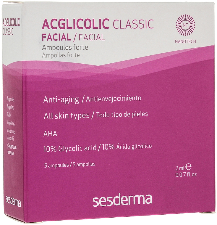 Fiole anti-aging cu acid glicolic - SesDerma Laboratories Acglicolic Classic Ampoules Forte — Imagine N1