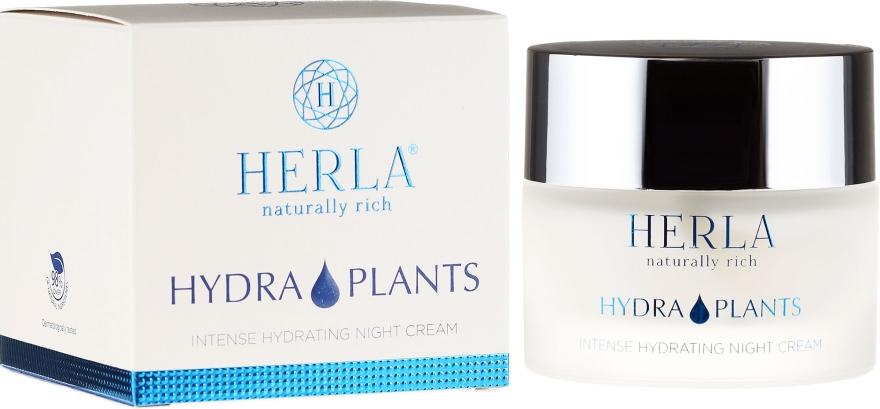 Cremă de față - Herla Hydra Plants Intense Hydrating Night Cream — Imagine N1