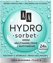 Parfumuri și produse cosmetice Cremă de față matifiantă multi-hidratantă - AA Hydro Sorbet Moisturising & Mattifying Cream