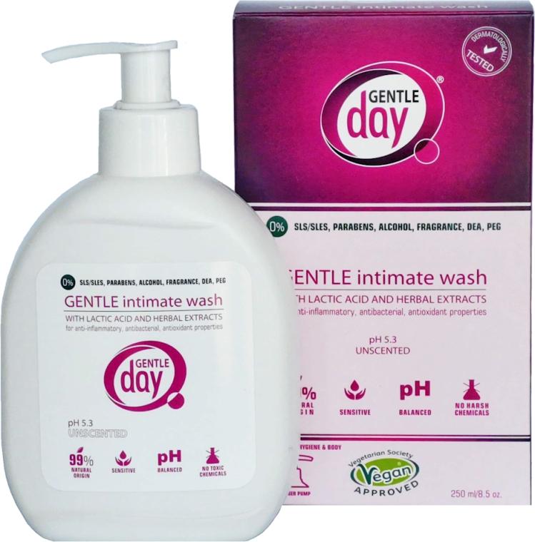 Gel cu acid lactic și extracte din plante, pentru igienă intimă - Gentle Day — Imagine N1
