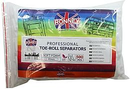 Parfumuri și produse cosmetice Role separatoare pentru pedichiură, 500 bucăți - Ronney Professional Toe-Roll Sparators