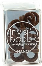 Elastic de păr - Invisibobble Nano Pretzel Brown — Imagine N2