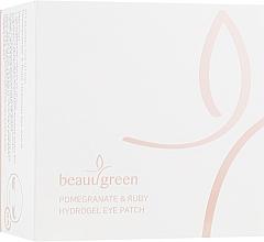 Parfumuri și produse cosmetice Patch-uri hidrogel cu extract de rodie și pulbere de rubin, dimensiune standard - BeauuGreen Pomegranate & Ruby Hydrogel Eye Patch