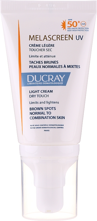 Cremă ușoară anti-pigmentare pentru ten normal și combinat - Ducray Melascreen UV Light Cream SPF 50+