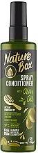 Parfumuri și produse cosmetice Spray-balsam de păr - Nature Box Olive Oil Spray Conditioner