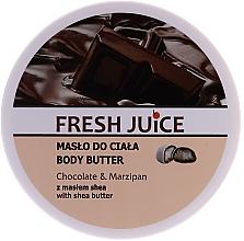 """Parfumuri și produse cosmetice Unt de corp """"Ciocolată și marțipan"""" - Fresh Juice Body Butter Chocolate & Marzipan With Shea Butter"""