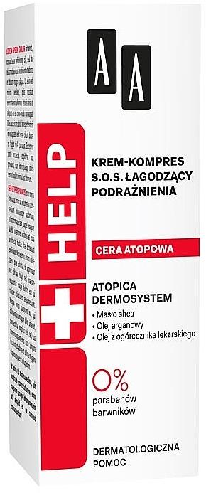 Cremă-compres calmantă pentru față - AA Cosmetics Help Krem-kompres S.O.S. Atopic Skin — Imagine N1
