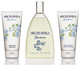 Parfumuri și produse cosmetice Instituto Espanol Aire De Sevilla Gardenias - Set (edt/150ml + cream/150ml + sh/gel/150ml)