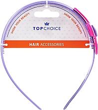 Parfumuri și produse cosmetice Cerc de păr cu floare, 27864, mov - Top Choice