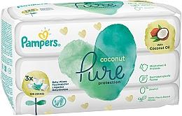 Parfumuri și produse cosmetice Șervețele umede pentru copii, 3x42 buc - Pampers Pure Coconut