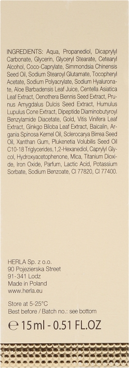 Ser pentru față - Herla Gold Supreme 24K Gold Concentrated Anti-Age Serum Booster — Imagine N3