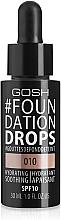 Parfumuri și produse cosmetice Fond de ten - Gosh Foundation Drops SPF10