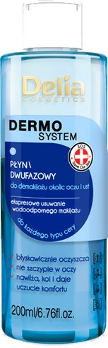 Demachiant în 2 faze - Delia Dermo System The Two-phase Liquid Makeup Remover