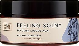 """Parfumuri și produse cosmetice Scrub cu sare pentru corp """"Pomușoare Acai"""" - Nature Queen Body Scrub"""