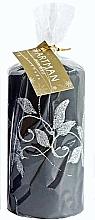 Parfumuri și produse cosmetice Lumânare decorativă, neagră, 7x10 cm - Artman Amelia
