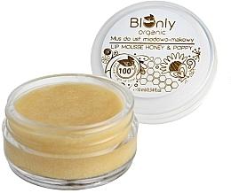 Parfumuri și produse cosmetice Mousse cu miere și semințe de mac pentru buze - BIOnly Organic Lip Mousse Honey & Poppy