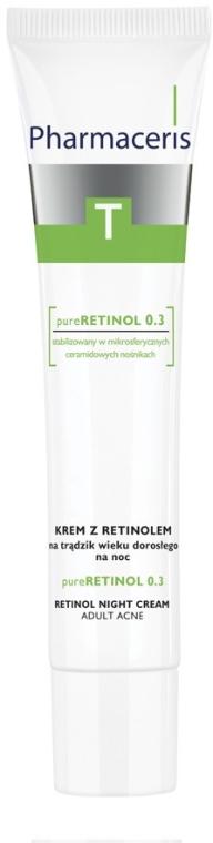 Cremă de noapte cu retinol anti-acnee - Pharmaceris T Pure Retinol 0.3 Night Cream — Imagine N1