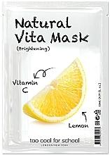 """Parfumuri și produse cosmetice Mască din țesătură cu efect iluminant și Vitamina C """"Lămâie"""" - Too Cool For School Natural Vita Mask Brightening"""