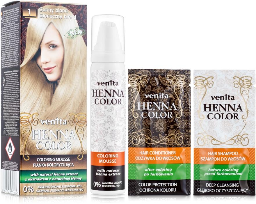 Spumă colorantă pentru păr - Venita Henna Color Coloring Mousse