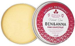 Parfumuri și produse cosmetice Deodorant cremă - Ben & Anna Pink Grapefruit Soda Cream Deodorant