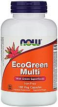 Parfumuri și produse cosmetice  Multivitamine (fără fier adaugat), capsule - Now Foods EcoGreen Multi Iron Free