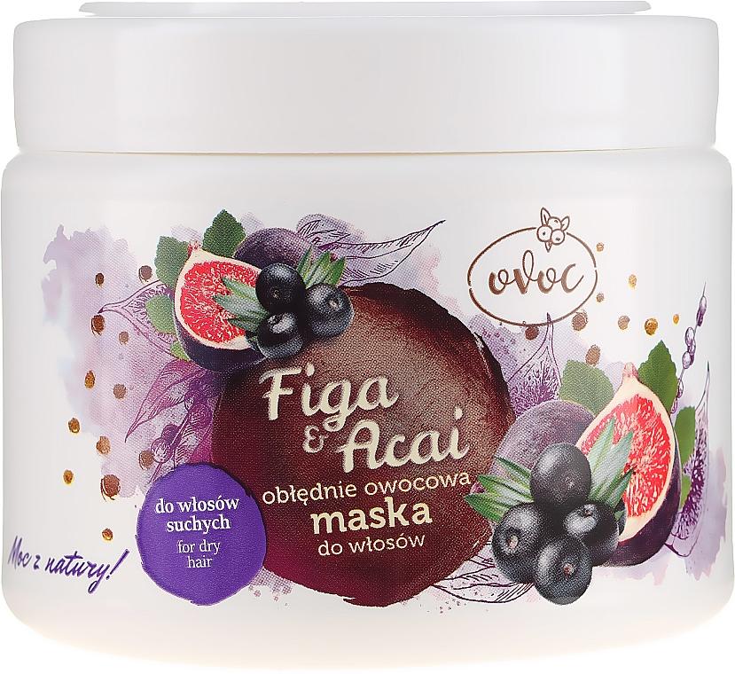 Mască cu extract de smochine, fructe și unt de Shea pentru păr - Ovoc Figa & Acai Mask