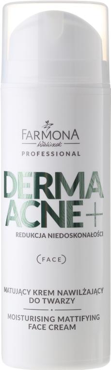 Cremă matifiantă cu acizi AHA - Farmona Dermaacne+ Moisturising Mattifying Face Cream