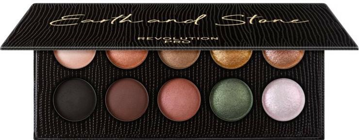 Paletă farduri de ochi, 10 nuanțe - Makeup Revolution Pro Colour Focus Palette