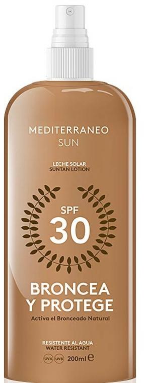 Loțiune pentru bronz - Mediterraneo Sun Suntan Lotion SPF30 — Imagine N1