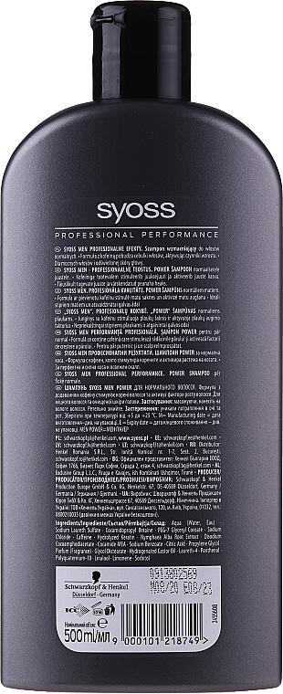 Șampon pentru bărbați - Syoss Men Power  — Imagine N2