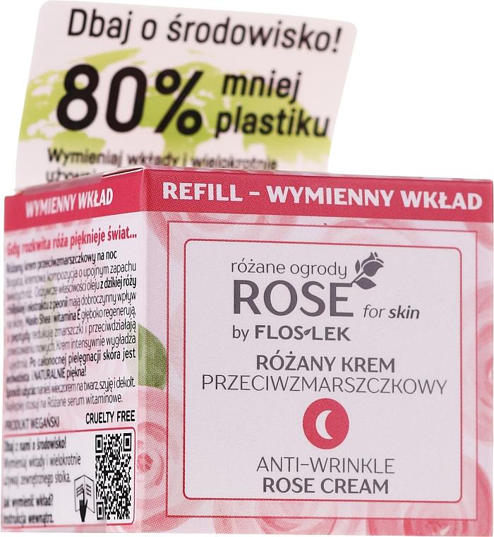Cremă antirid de noapte - Floslek Rose For Skin Anti-Wrinkle Night Cream Refill
