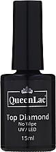 Parfumuri și produse cosmetice Top pentru gel-lac fără strat lipicios - QueenLac Top Diamond No Wipe UV/LED