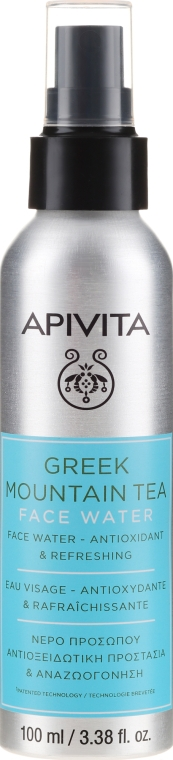 """Apă cu efect antioxidant și răcoritor pentru față """"Ceai de munte grecesc"""" - Apivita Greek Mountain Tea Face Water — Imagine N1"""