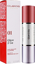 Fard de obraz și iluminator, stick dublu - Clarins Glow 2 Go Blush Highlighter — Imagine N2