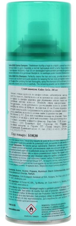 Șampon uscat - Kallos Cosmetics Gogo Dry Shampoo — Imagine N2