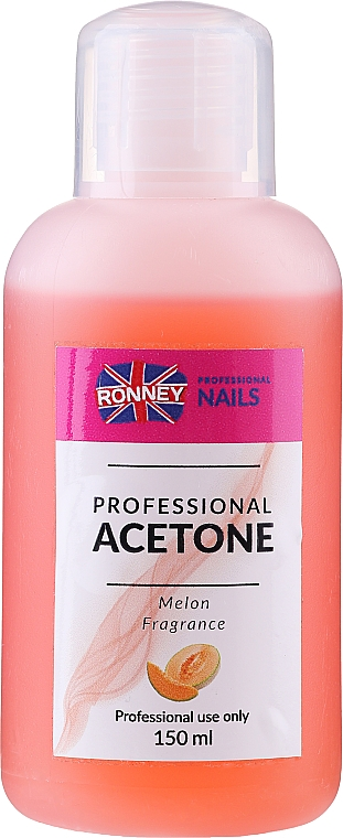 """Soluție pentru îndepărtarea ojei """"Pepene galben"""" - Ronney Professional Acetone Melon"""