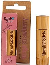 Parfumuri și produse cosmetice Ulei de buze, aromă de căpșuni - Bamboostick Strawberry Bamboo Natural Care Lip Butter