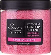 """Parfumuri și produse cosmetice Sare-spumă de baie """"Căpșuni și iaurt"""" - Senso Terapia Happines Re-Charge"""